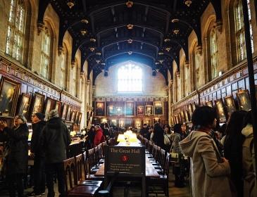 Christ Church College - The Great Hall (The Hogwarts Dining Hall zou hierop gebaseerd zijn)
