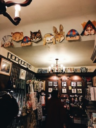 Masked in the Alice in Wonderland store