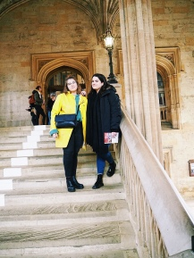 With Chiara on the staircase